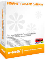 Accept credit cards online with e-Path